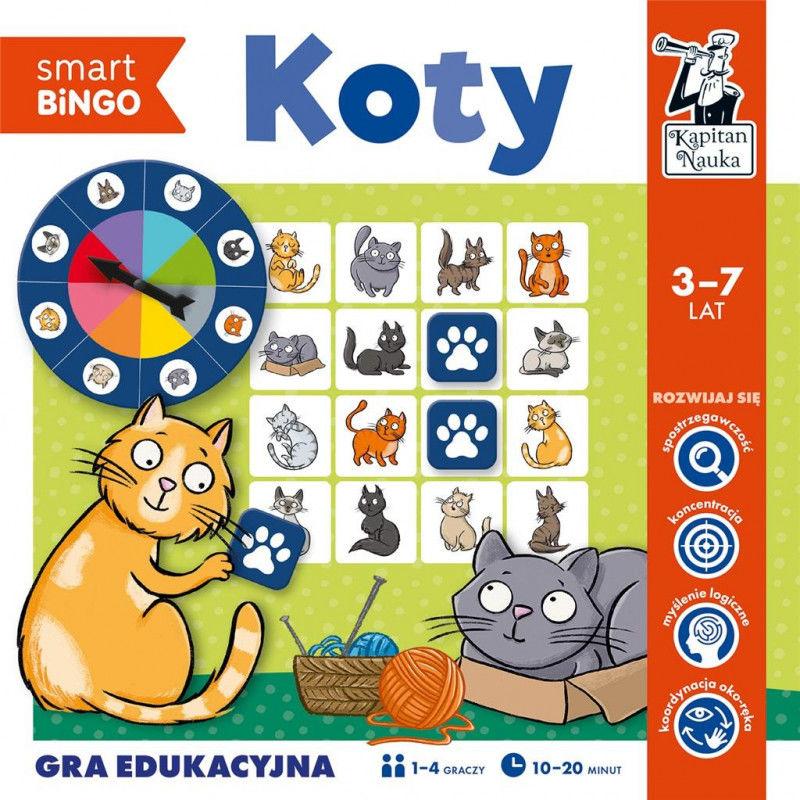 Koty Smart bingo Gra edukacyjna ZAKŁADKA DO KSIĄŻEK GRATIS DO KAŻDEGO ZAMÓWIENIA