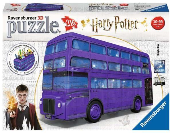 Puzzle 3D 216el Harry Potter Błękitny autobus 111589 RAVENSBURGER ZAKŁADKA DO KSIĄŻEK GRATIS DO KAŻDEGO ZAMÓWIENIA