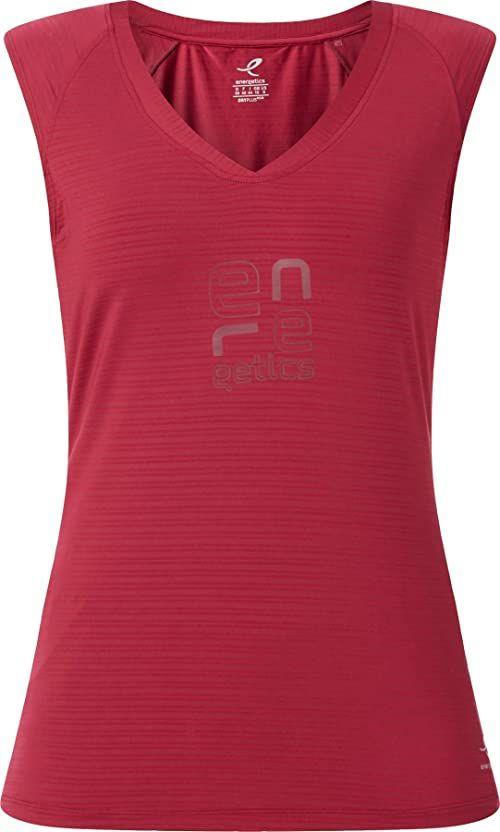 ENERGETICS Damska koszulka Tank Galia 2 czerwony czerwone wino 42