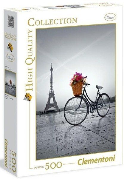 Puzzle 500 HQ Romantic Promenade in Paris - Clementoni