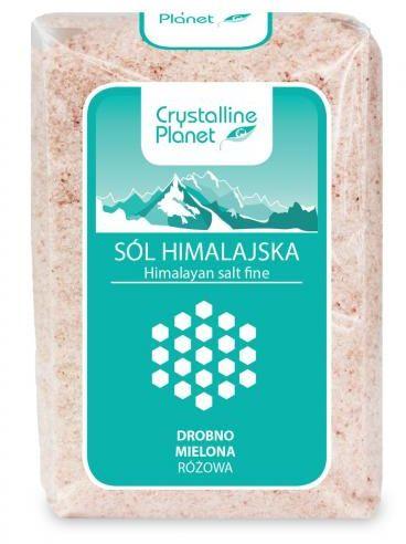 Sól himalajska różowa DROBNO MIELONA 600g Crystalline Planet
