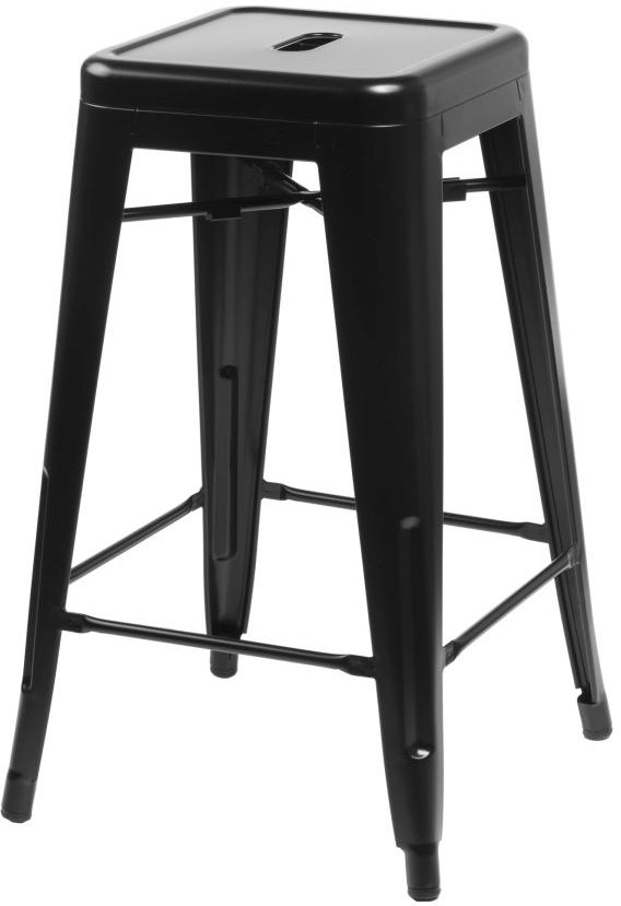 D2 Stołek barowy Paris 66cm czarny inspirowany Tolix
