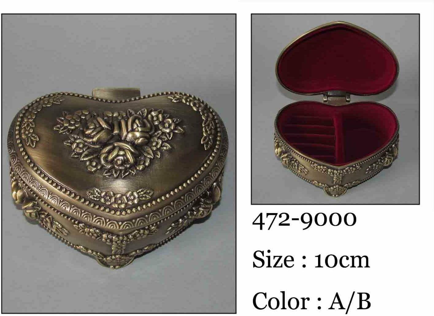 Kasetka, stare złoto, 10x8 cm