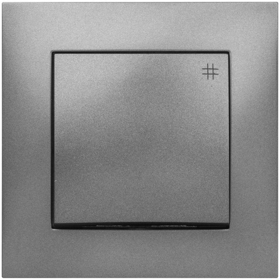 Włącznik pojedynczy CARLA Grafitowy ELEKTRO-PLAST