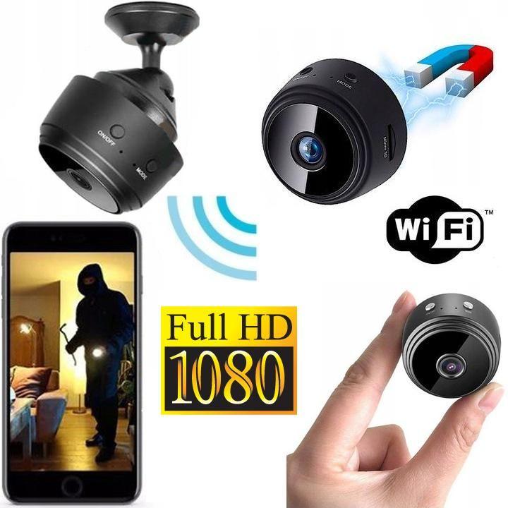 Dyskretna Dz.-Nocna Mini Kamera FULL HD WiFi/P2P (zasięg cały świat!!) + Powiadomienia/Zapis..