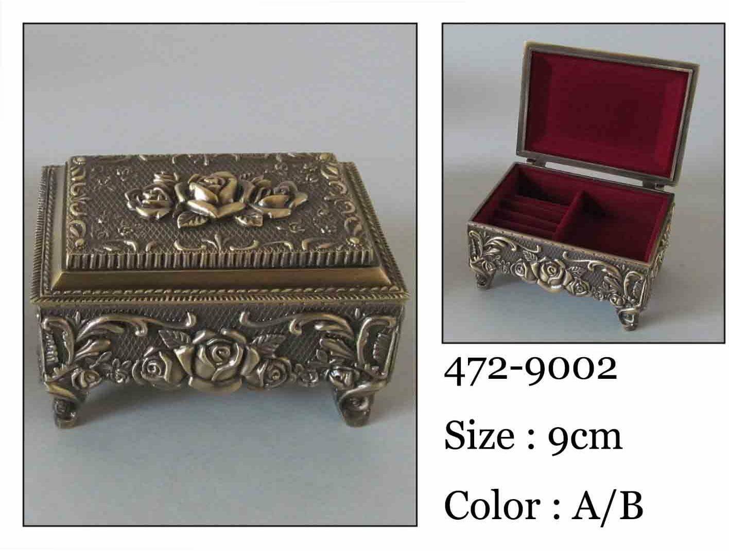 Kasetka, stare złoto, 9x6,5 cm