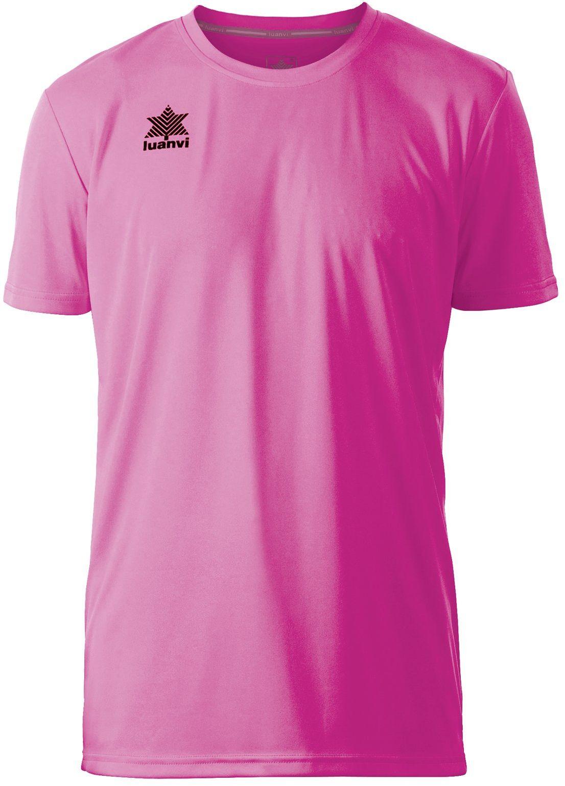 Luanvi Męska koszulka sportowa z krótkim rękawem różowy Rosa XXS