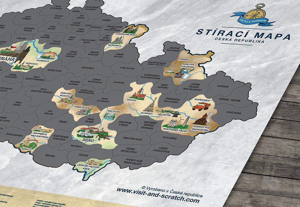 Mapa zdrapka - Czeska Republika