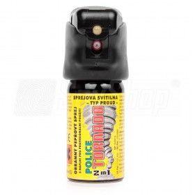 Miotacz gazu pieprzowego Police Tornado z latarką LED