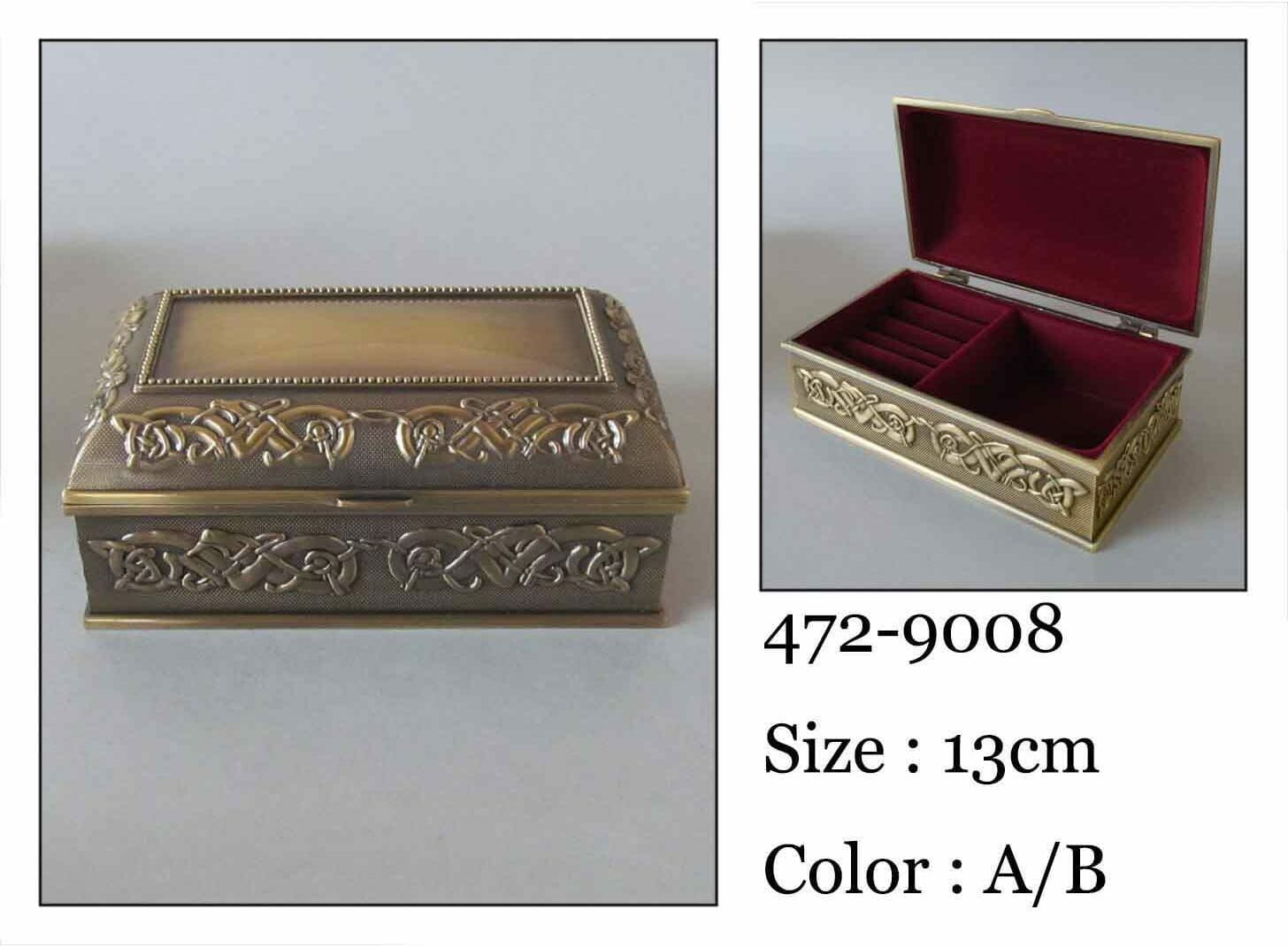 Kasetka, stare złoto, 13x7,5 cm