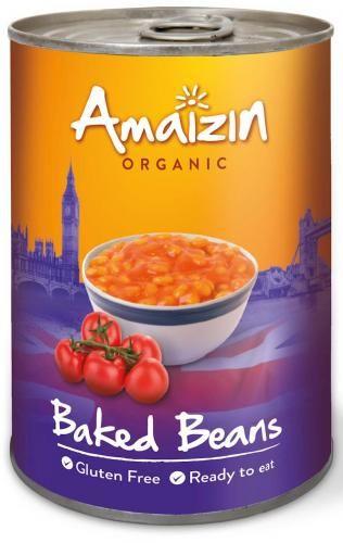 Fasolka w sosie pomidorowym bezglutenowa BIO 400g Amaizin