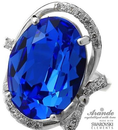 Kryształy przepiękny pierścionek SAPPHIRE R9-22