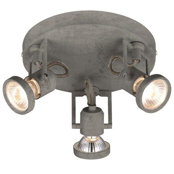 Lampa CONCRETO 3pkt plafon jak z betonu LED