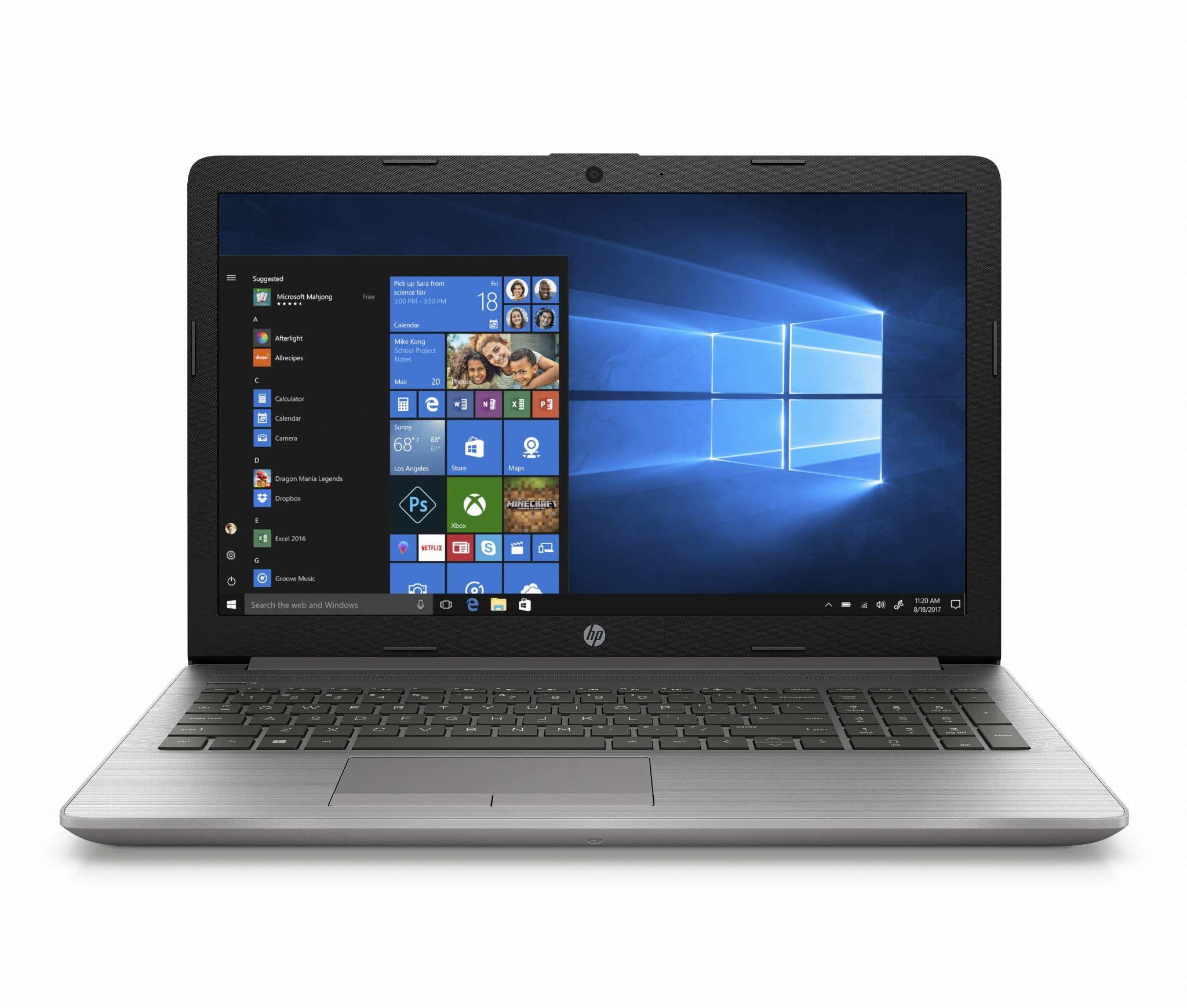 "HP 255 G7 15.6"" FHD Laptop (AMD Ryzen 5 3500U, 8GB RAM, 256GB SSD, DVD-RW, Windows 10 Pro) Srebrny QWERTY"