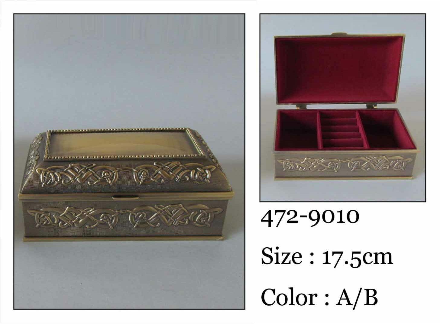 Kasetka, stare złoto, 17,5x10 cm