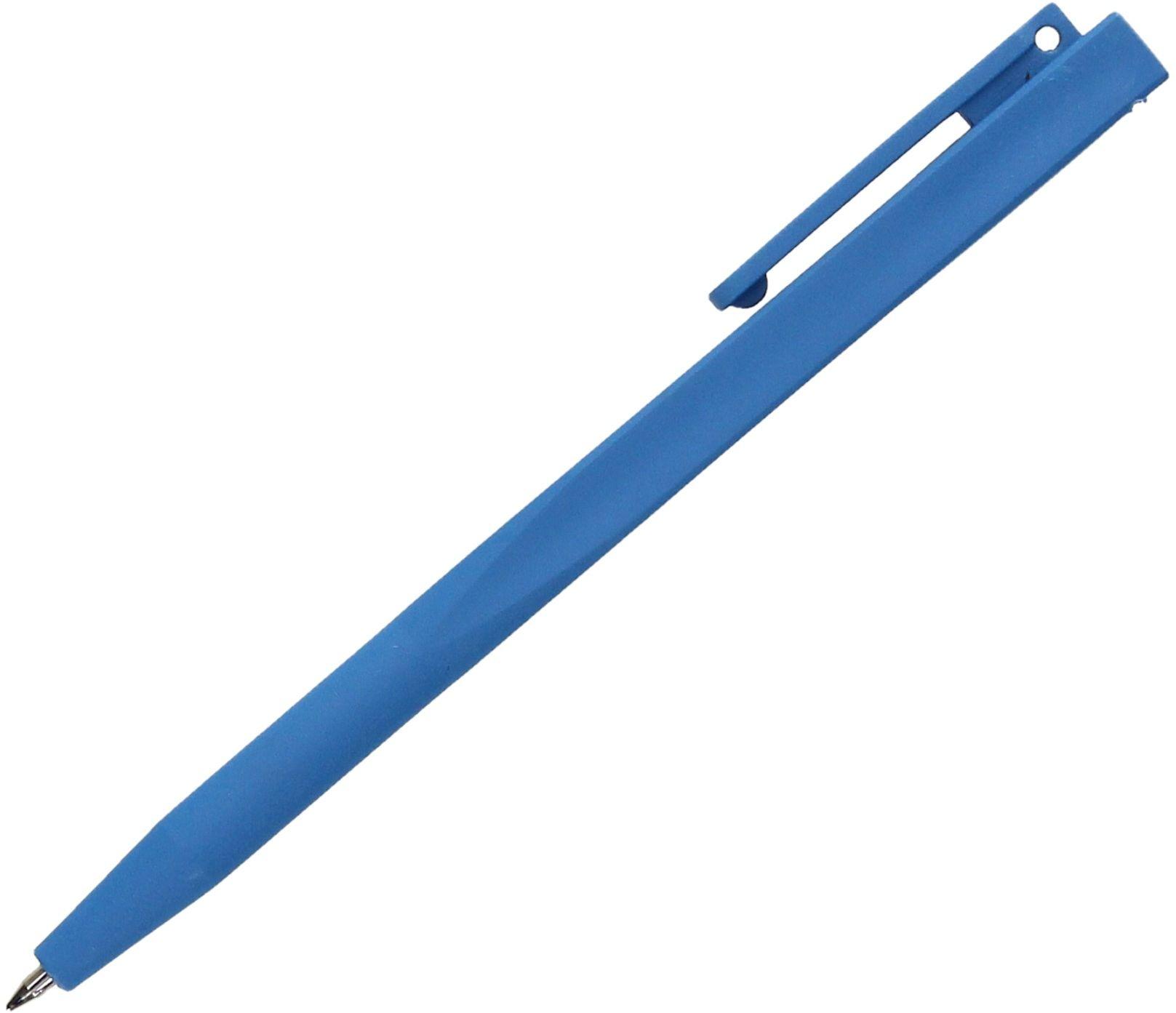 Długopis wykrywalny detektorem metalu niebieski z klipsem P0520