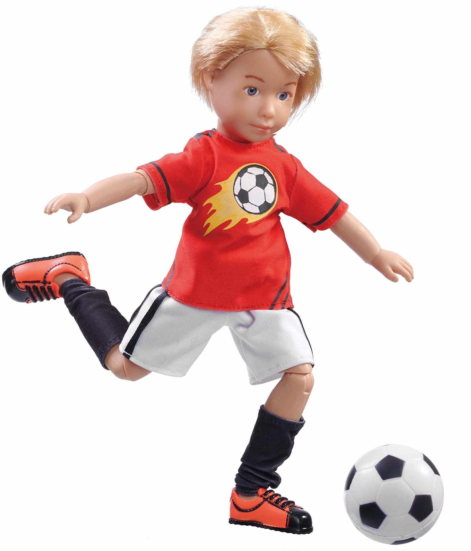 Käthe Kruse 0126850 Michael piłka nożna, czerwona