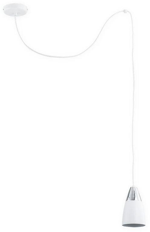 Kala Pająk zwis 1 pł. / biały matowy + chrom