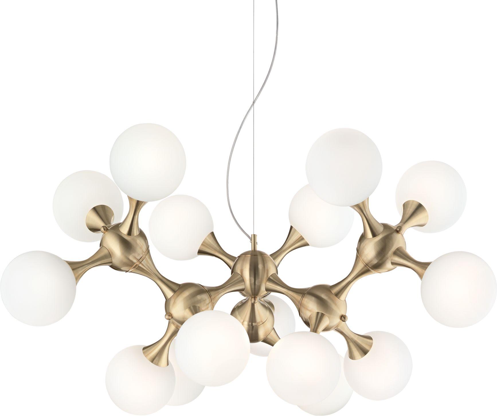 Lampa wisząca Nodi SP15 241012 Ideal Lux mosiężna lampa wisząca w stylu glamour