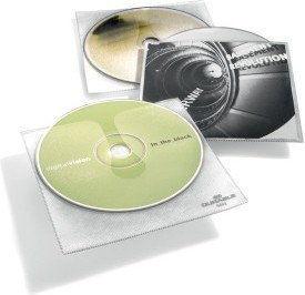 Koszulki na CD z wyściółką ochronną i kieszenią na opis CD COVER 10 sztuk /520219/