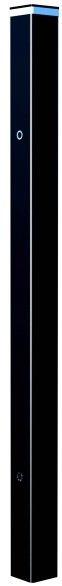 Słupek ogrodzeniowy LED 10 x 10 x 220 cm RAL9005