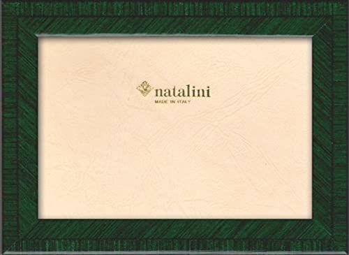 Natalini Ramka na zdjęcia Marquetry wykonana we Włoszech, tulipan, zielony, 10 x 15 cm