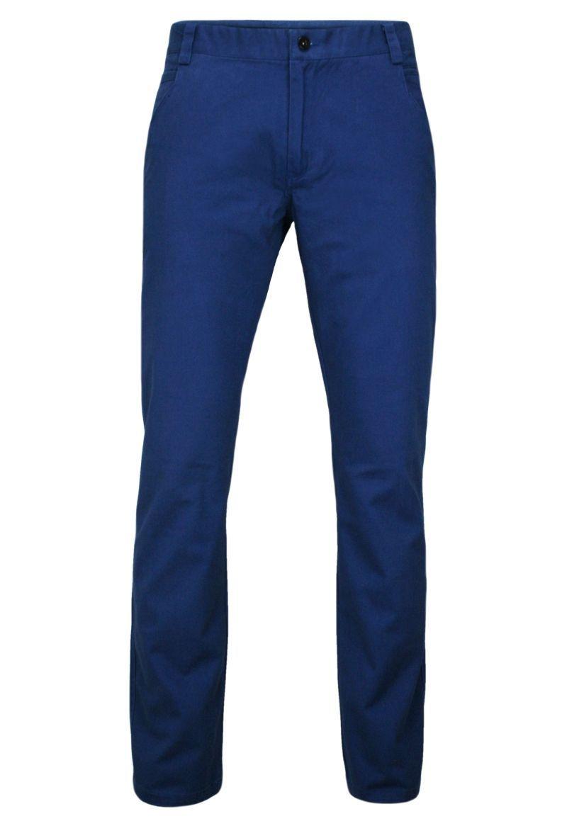Niebieskie Eleganckie, Męskie Spodnie, 100% BAWEŁNA -CHIAO- Chinosy SPCHIAOM2A03nieb