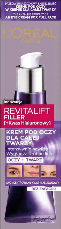 L''Oréal - REVITALIFT FILLER - Krem pod oczy dla całej twarzy - 30 ml