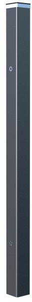 Słupek ogrodzeniowy LED 10 x 10 x 220 cm RAL7016