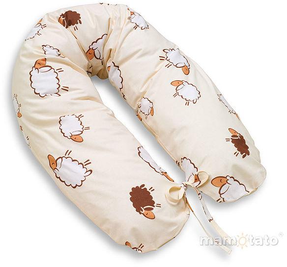 MAMO-TATO Poduszka dla ciężarnych kobiet Owieczki ecru