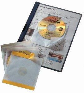 Koszulki na CD z wyściółką ochronną CD FIX samoprzylepne 10 sztuk /521019/