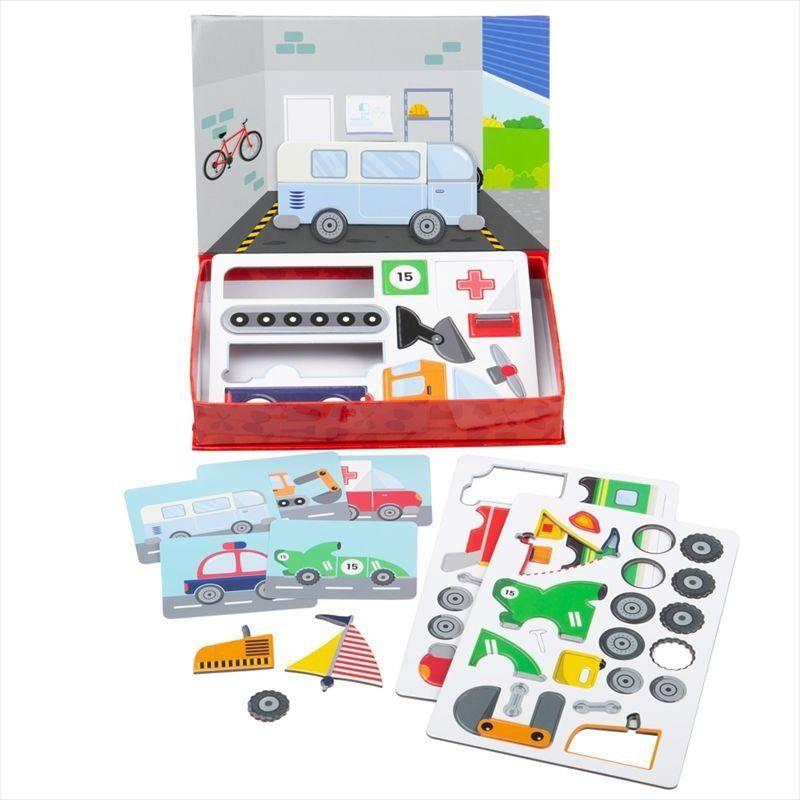 Układanka magnetyczna Mechanik BJ005-Bigjigs Toys, zabawki rozwojowe
