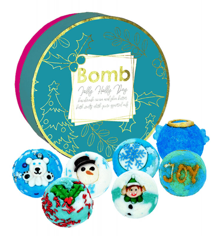 Bomb Cosmetics - Jolly Holly Day - Gift Pack - Zestaw upominkowy z naturalnymi kosmetykami do kąpieli