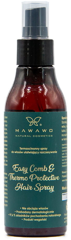 Mawawo Termoochronny Spray Do Włosów Ułatwiający Rozczesywanie 150 ml