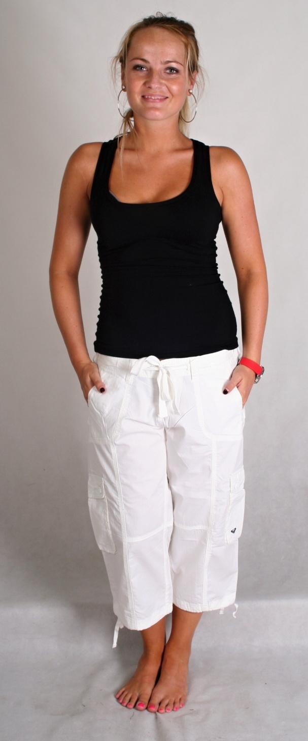szorty damskie ROXY white white