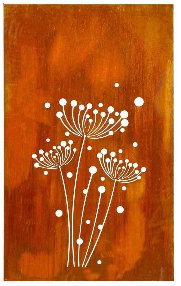 Panel osłonowy CORTEN 110 x 180 cm dmuchawce FOREST STYLE
