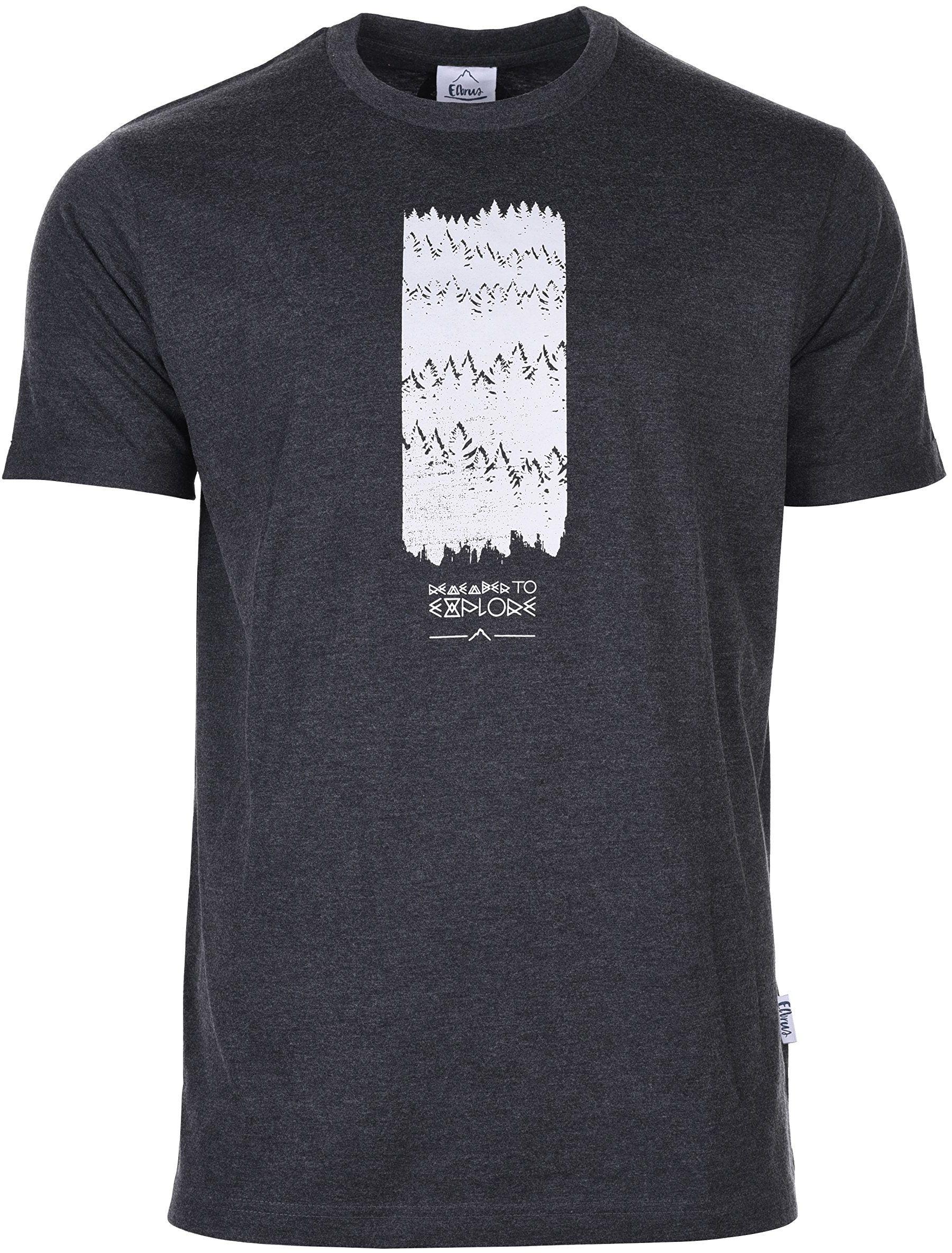 Elbrus Męski T-shirt Turid szary ciemnoszary melanż XXL