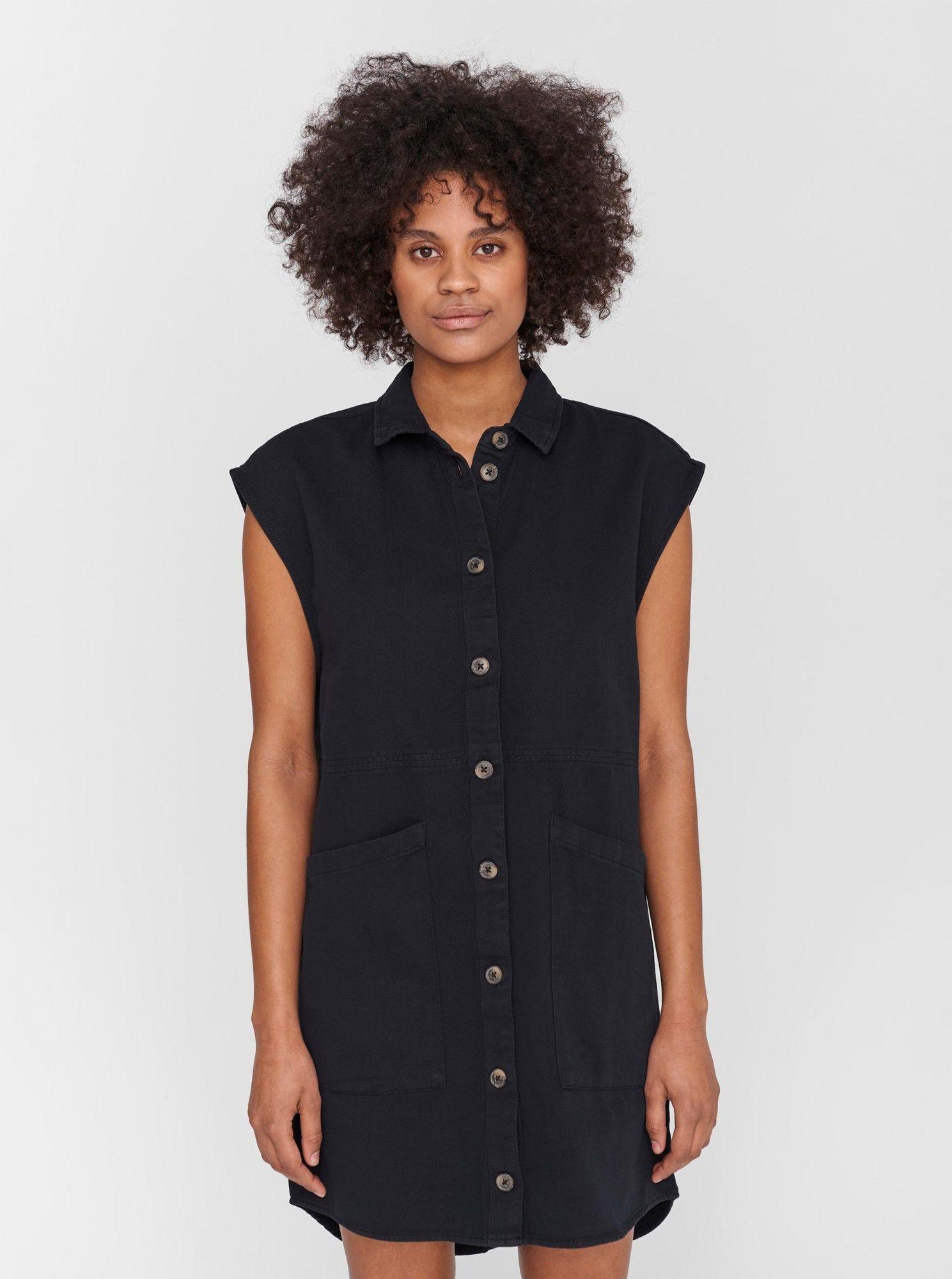 Noisy May czarna sukienka koszulowa