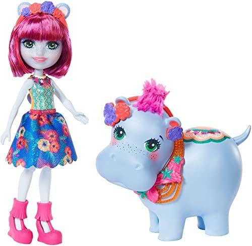 Enchantimals GFN56 - zestaw tematyczny Hedda Hippo i Lake lalki, zabawka od 4 lat