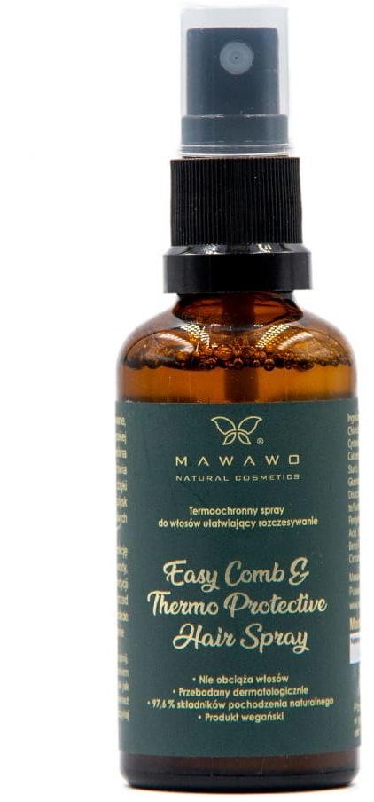 Mawawo Termoochronny Spray Do Włosów Ułatwiający Rozczesywanie 50 ml