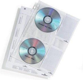 Koszulka na 4 płyty CD z wyściółką ochronną do segregatorów A4 5 sztuk /522219/