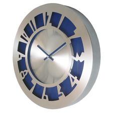Zegar aluminiowy ARABIC blue