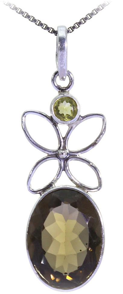 Kuźnia Srebra - Zawieszka srebrna, 42mm, Kwarc Dymny, 4g, model