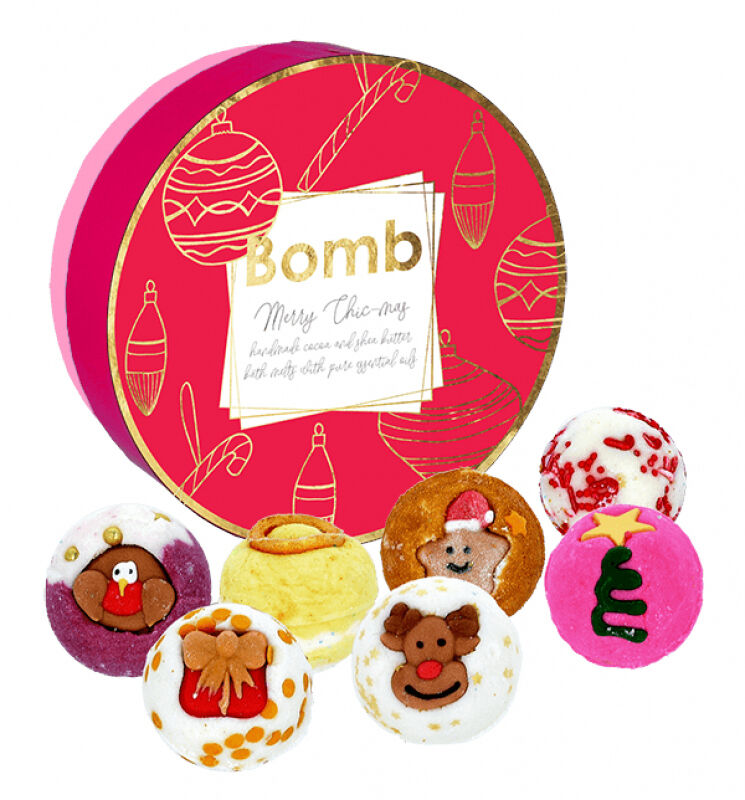 Bomb Cosmetics - Merry Chic-mas - Gift Pack - Zestaw upominkowy z naturalnymi kosmetykami do kąpieli