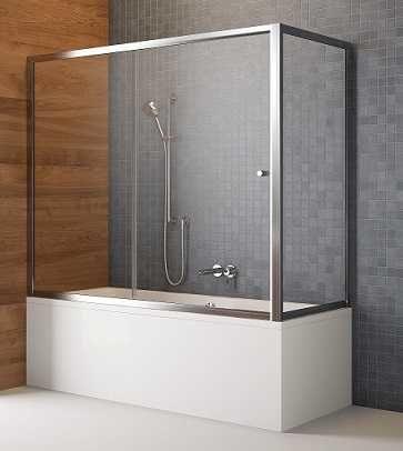 Radaway zabudowa nawannowa Vesta DWJ+S 170x75 cm, szkło przejrzyste, wys. 150 cm 209117-01-01/204075-01