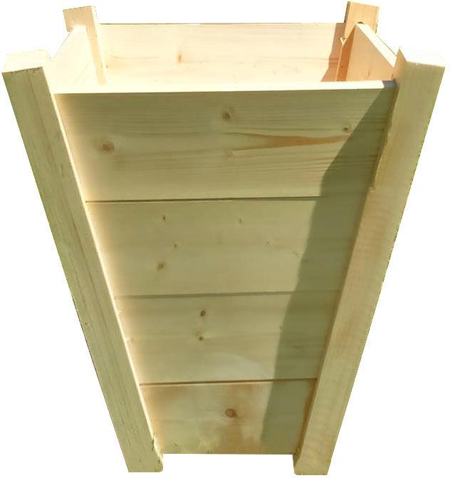 Duża drewniana pionowa donica ogrodowa 15 kolorów - Katris