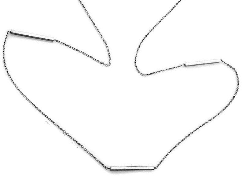 Srebrny naszyjnik 925 długi łańcuszek pałeczki 2,83 g