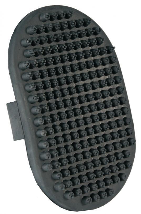 GRZEBIEŃ owalne gumowe na rękę DELUXE