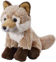 Twoje zwierzęta z sercem Bauer zabawki lis: mała przytulanka do przytulania i kochania, idealna jako prezent, 18 cm, jasnobrązowa (12507)
