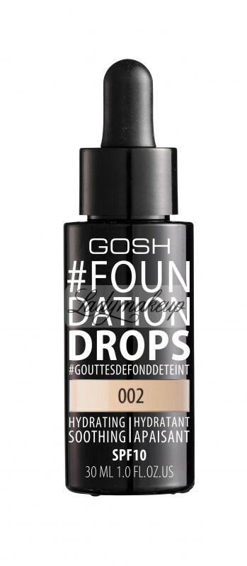GOSH - FOUNDATION DROPS - Podkład nawilżająco-wygładzający - 002 - IVORY